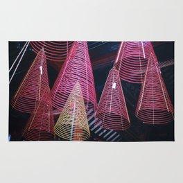 RED SPIRALS - Vietnam - Asia Rug