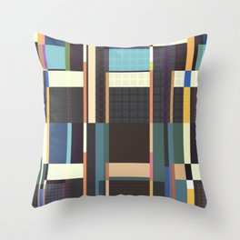 City Blocks And Buildings Throw Pillow