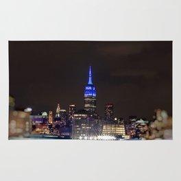 Midtown Manhattan at Night Rug