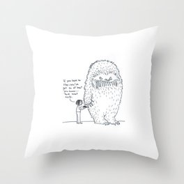 Mental Issues Monster Throw Pillow