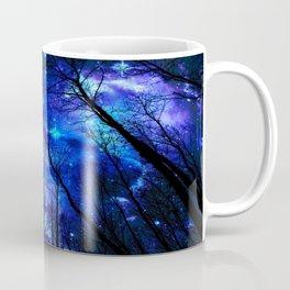black trees purple blue space Coffee Mug