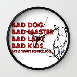 Some truth about family :) Vector animal and bold font, funny quote, meme Wall Clock