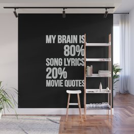 My brain | song lyrics and movie quotes Wall Mural