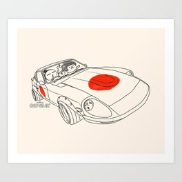 Crazy Car Art 0160 Art Print
