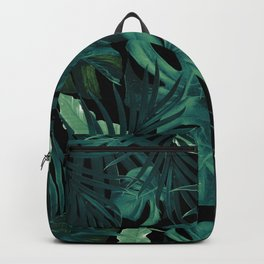 Tropical Jungle Night Leaves Pattern #1 #tropical #decor #art #society6 Backpack