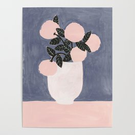 Posy Blue Poster