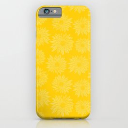 Gerbera Flowers Yellow iPhone Case