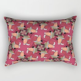 Abstract Sushi Theme geometric design Rectangular Pillow
