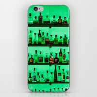 alcohol iPhone & iPod Skins featuring Alcohol Wall by Chee Sim