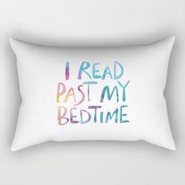 I read past my bedtime - Rainbow Rectangular Pillow