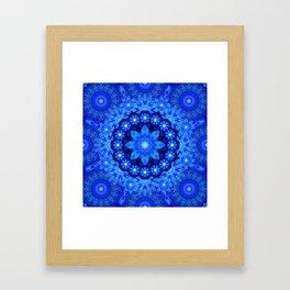 Lapis Crown Mandala Framed Art Print