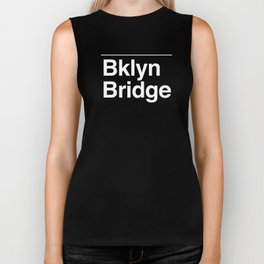 Brooklyn Bridge MTA Sign Biker Tank