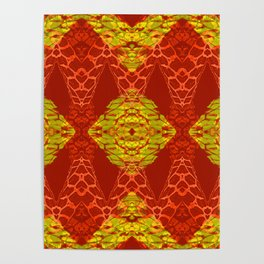 Stunning African Geometric Quilt Poster