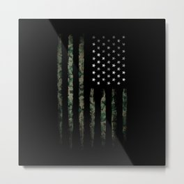 Khaki american flag Metal Print