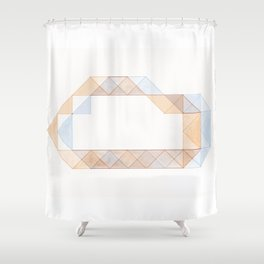 Congruence of Triangles Shower Curtain