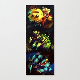 Gen 3 Final Evolution Starters [Full Collection] Canvas Print