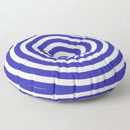 Circles (Navy Blue & White Pattern) Floor Pillow