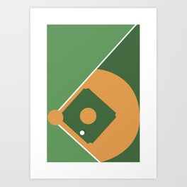 Sport Perspective - from the top - BASEBALL Art Print