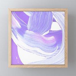 Shades of Purple Brush Stroke pattern #abstractart Framed Mini Art Print