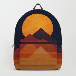 Full moon and pyramid Backpack
