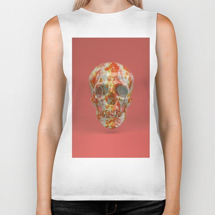 Red Candy Skull Biker Tank