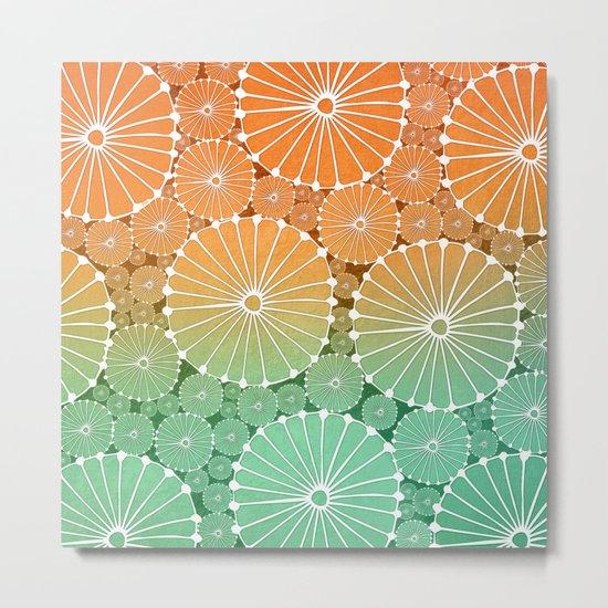 Abstract Floral Circles 7 Metal Print