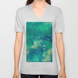 3D Ocean Waves Pattern Unisex V-Neck