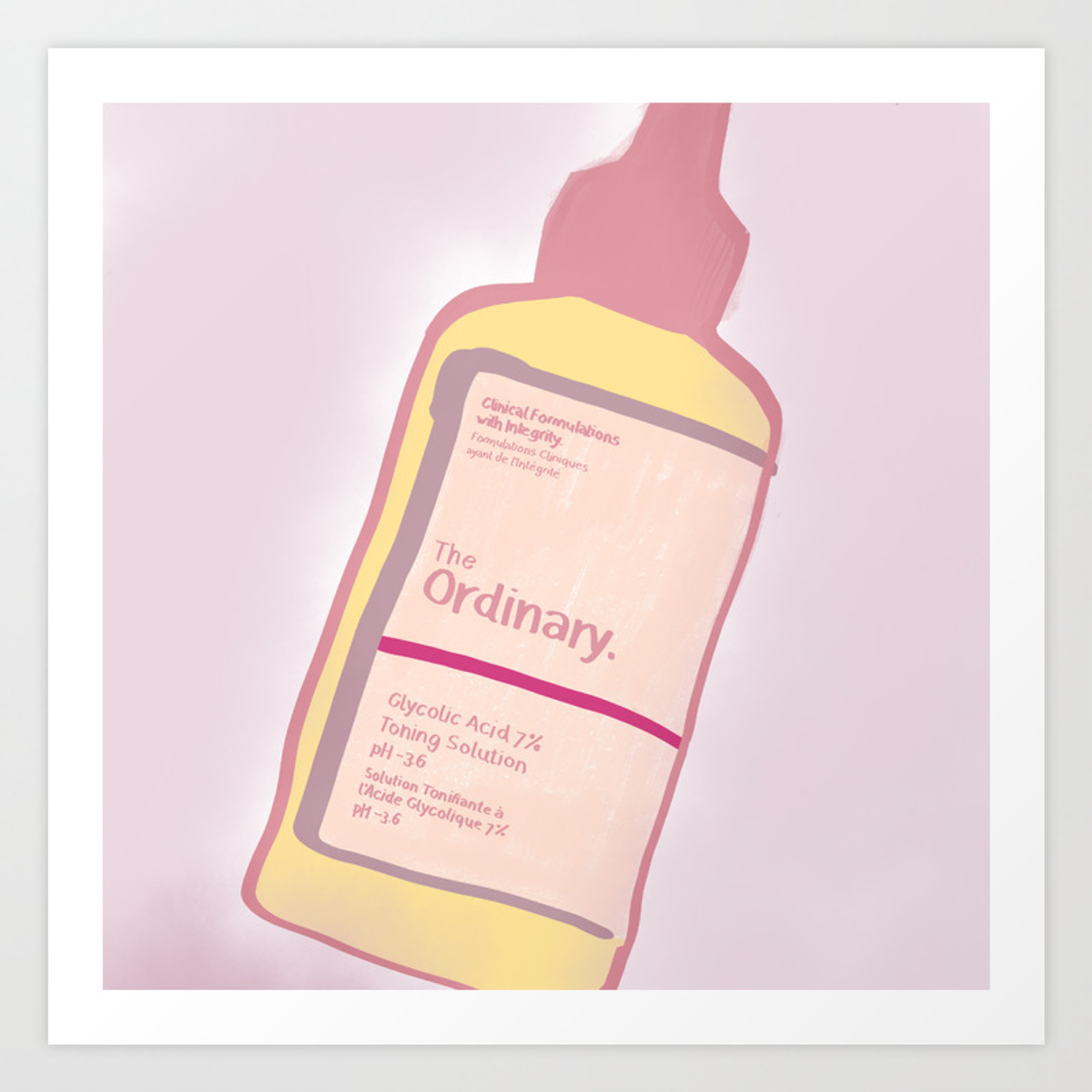Cute Skincare Inspired By The Ordinary Art Print By Angelrosedoodles Society6
