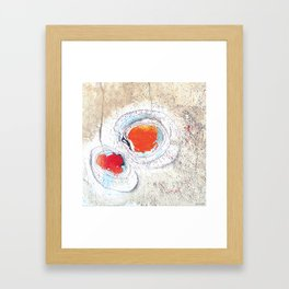 Red Circle 02 Framed Art Print