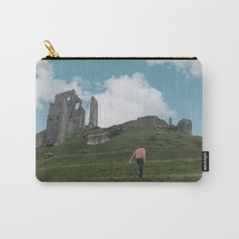 Corfe Castle and the Sky medieval Carry-All Pouch