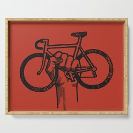 Bicycle Protest Sign Serving Tray