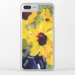 Sage and Sunflowers Clear iPhone Case