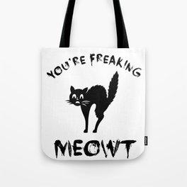 Black Cat Graphic / Halloween Funny Quote Cute Design Art design Tote Bag