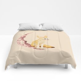 lonely Fennec (pink) Comforters