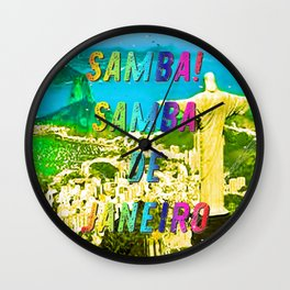 Samba de Janeiro – A Hell Songbook Edition - Paralympic Games Rio de Janeiro - Brazil Wall Clock