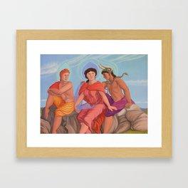 Apollo, Aphrodite and Dionysus Framed Art Print