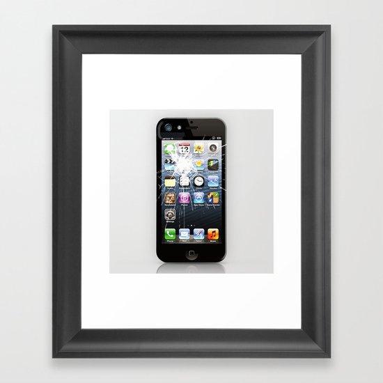 iPhone5 Broken Framed Art Print