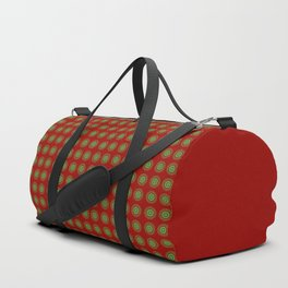 Little green suns pattern Duffle Bag