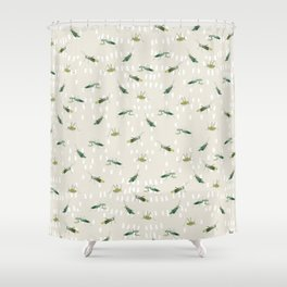 Mantis & Locusta Shower Curtain