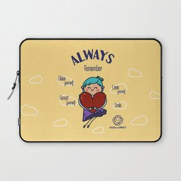 Always remember smile Laptop Sleeve