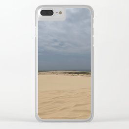 Sand Dunes at Stockton Sand Dunes, Port Stephens, Australia Clear iPhone Case