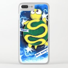 turtle dream walking in the sky Clear iPhone Case
