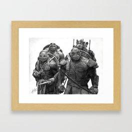 Green Teenage Heroes Framed Art Print