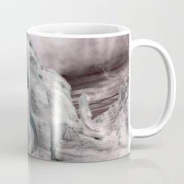 6228 BW Three Desert Art Nude Women Among Rocks Coffee Mug