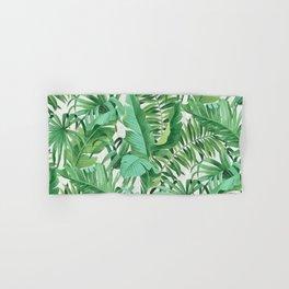 Green tropical leaves III Hand & Bath Towel