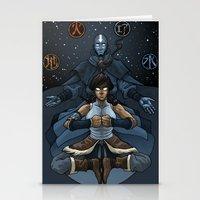 korra Stationery Cards featuring Korra by Alex Rodway Illustration