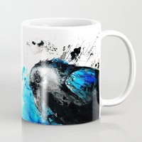 raven Mugs featuring raven by Katja Main