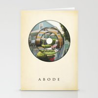 literary Stationery Cards featuring abode by Vin Zzep