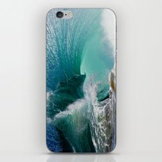 Double Blue Flares iPhone & iPod Skin