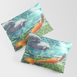 Swimming with Manatees Pillow Sham